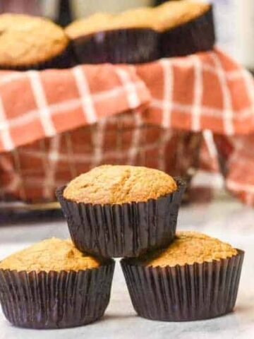 Looking for a Healthy Pumpkin Muffins Recipe using fresh or frozen pumpkin? Look no further- make pumpkin muffins or pumpkin bread. #myculturedpalate #pumpkinrecipe #pumpkinmuffins #pumpkinbread #healthyrecipe
