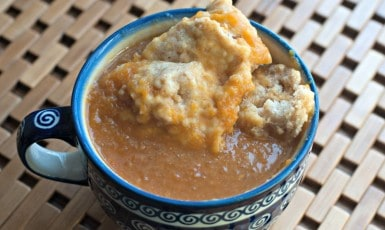 Pumpkin Soup with Dumplings