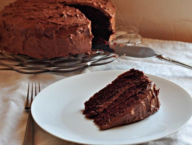 chocolate cake - lazy woman's