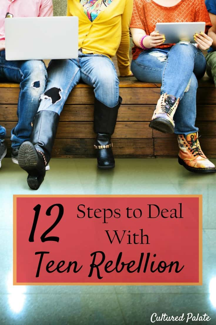 Teen rebellion is considered normal - but is it? Find tips for dealing with teenage rebellion from a mom of 10 who is speaking from experience! myculturedpalate.com #teens #teenrebellion #teenagerebellion #dealingwithteenrebellion #teenagers