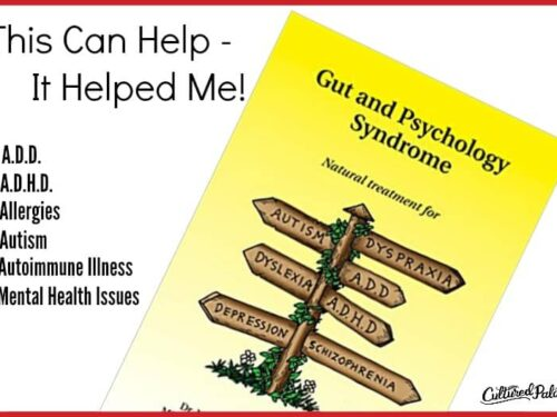 Gut and Psychology Syndrome Book shown with text overlay.