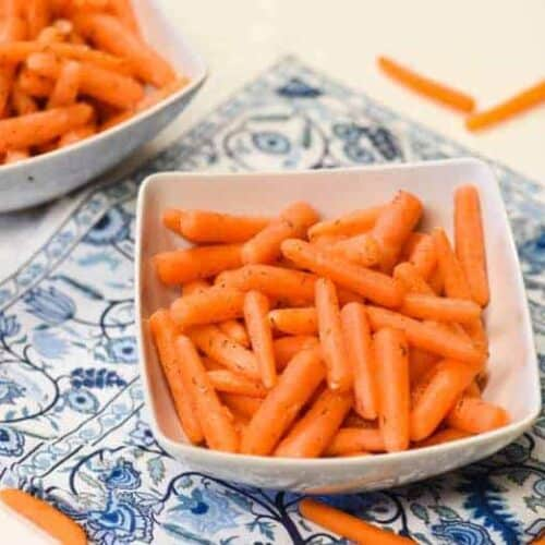 bowl of Fermented Carrots - Probiotic Foods shown