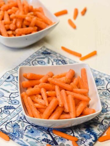 Probiotic Foods - Fermented Foods - Fermented Carrots shown in a bowl
