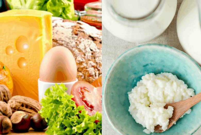 Two image collage of foods eaten on the GAPS diet.