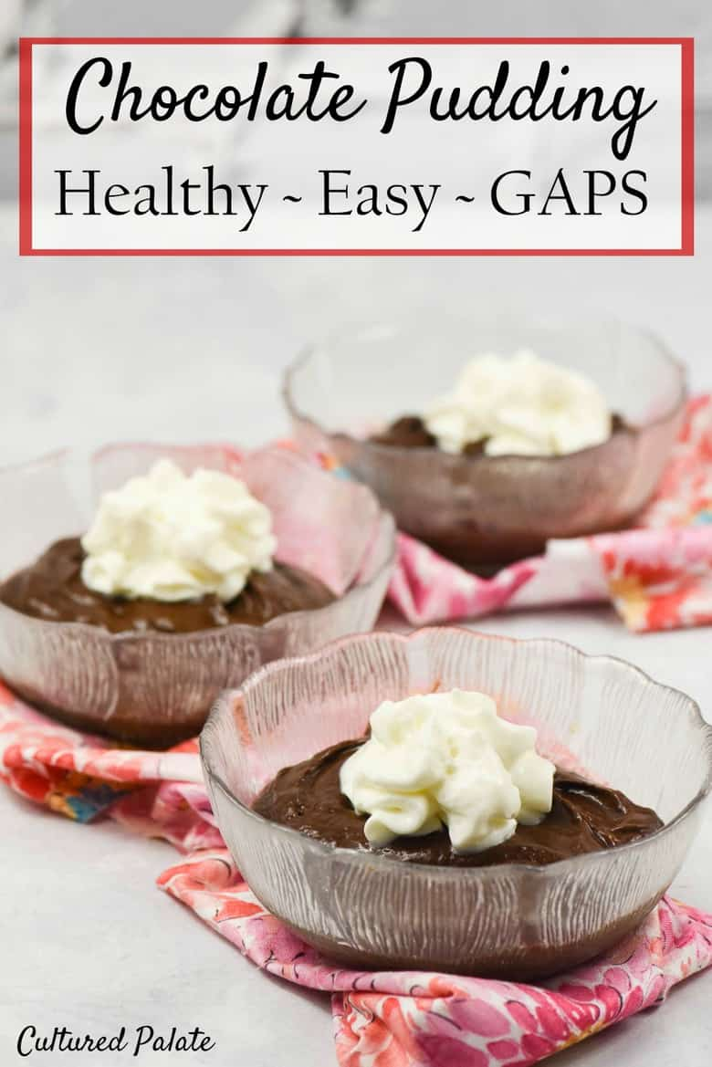 Chocolate pudding CAN be healthy and delicious! Avocado Chocolate Pudding recipe combines the great taste of chocolate with the health benefits of avocados and banana. Find the recipe at: https://myculturedpalate.com/raw-chocolate-pudding-recipe/    #desserts #avocados # chocolate #GAPS #healthy # Easyrecipes
