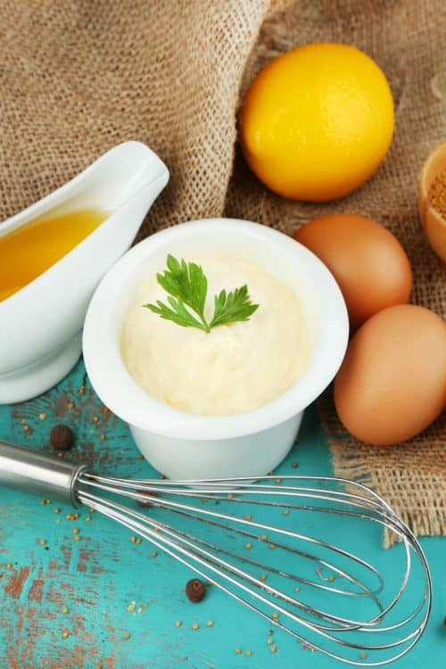 ingredients shown for Homemade Mayonnaise