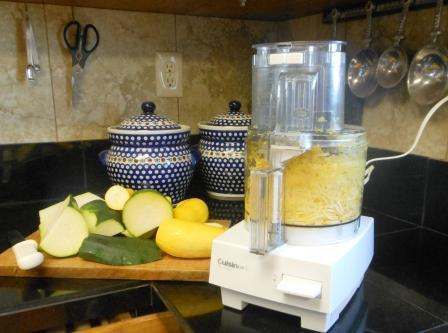 How to Freeze Squash - Freezing squash shown using a food processor