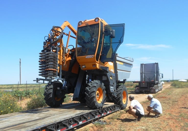 how to drive a grape harvester