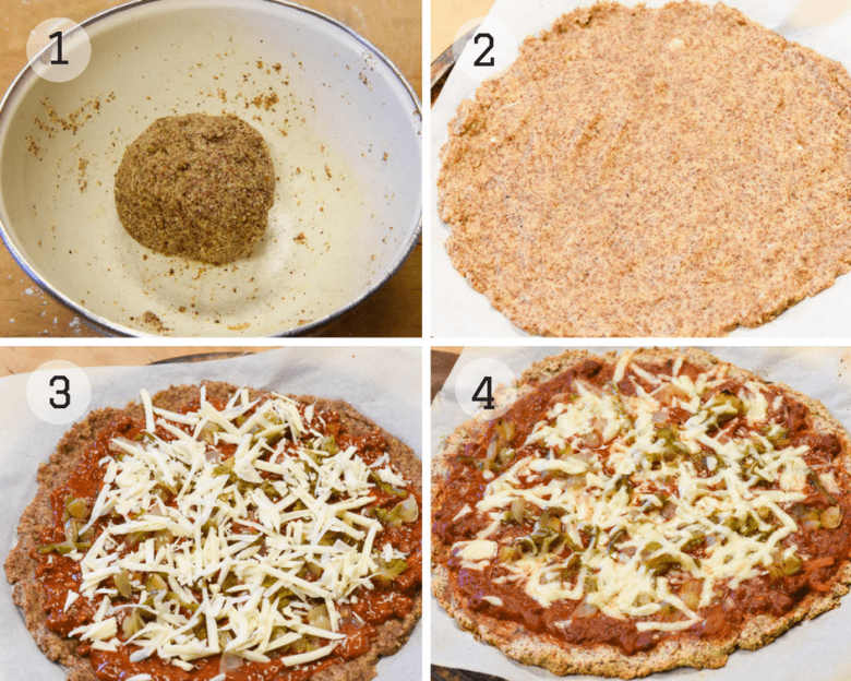Step by step photo tutorial for making Almond Flour Pizza Crust