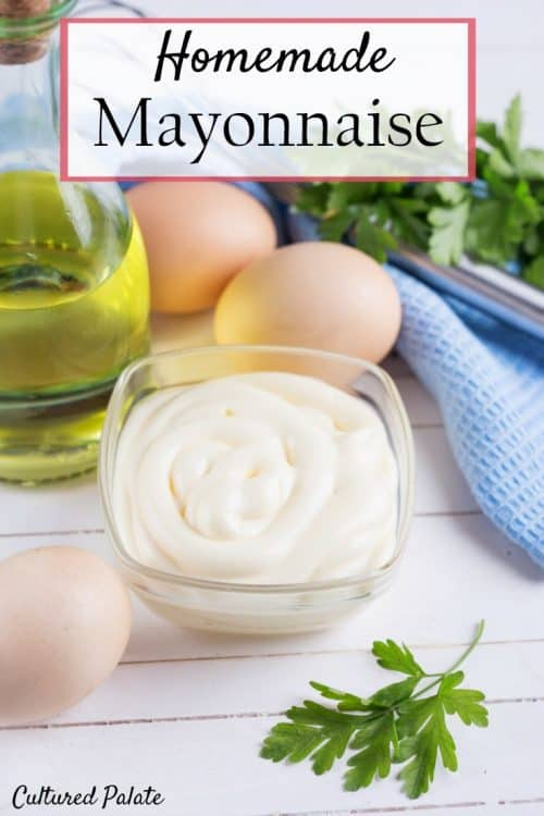Homemade Mayonnaise shown in bowl from the post, How to Make Mayonnaise