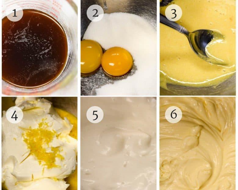 photo tutorial of easy tiramisu recipe steps 1 - 6