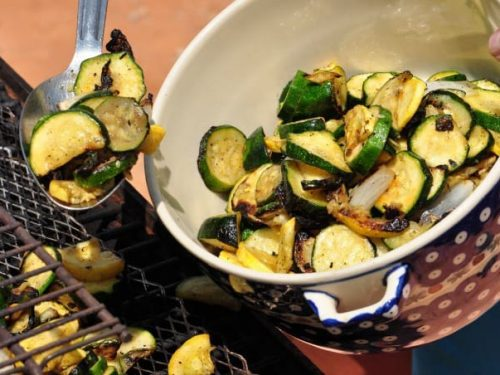 easy roasted vegetables in a large servings bowl