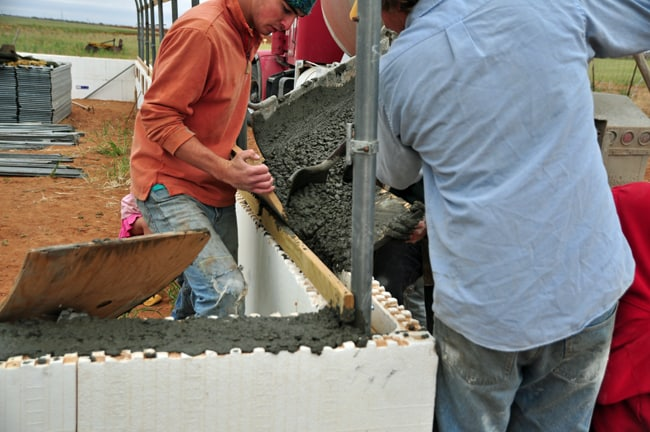 concrete in ICF
