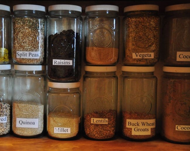 getting organized - pantry jars
