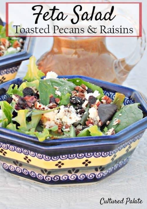 feta salad shown in a bowl