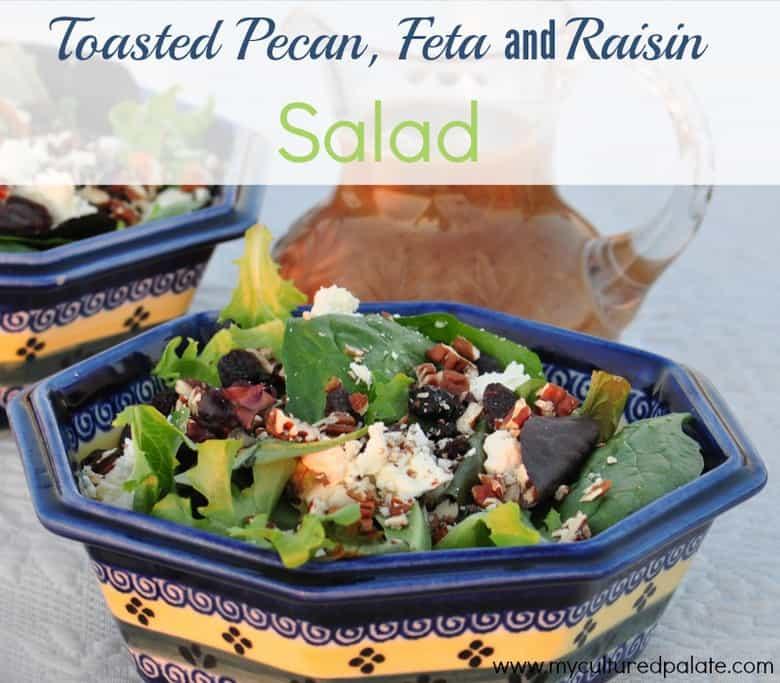 Toasted Pecan Feta and Raisin salad