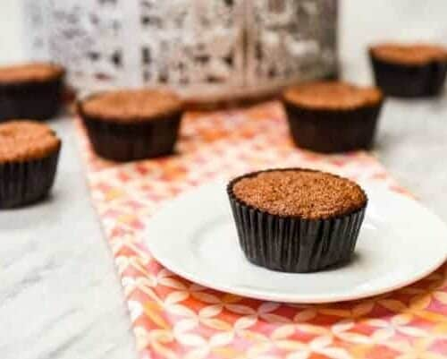 Carrot Muffins - Healthy Muffins shown on table setting