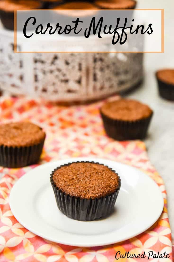 Carrot Muffins With Raisins And Nuts are healthy muffins that don't taste healthy. Delicious and easy to make, they are a great, healthy snack or breakfast on the go! www.myculturedpalate.com #muffins #breakfast #healthyrecipes #easyrecipes