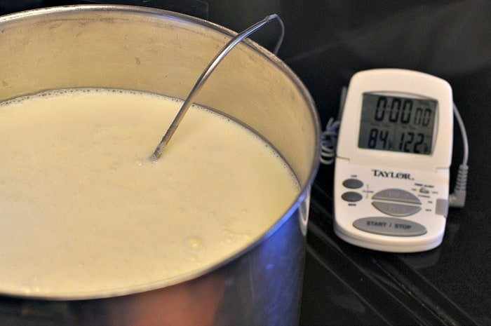 heating milk for feta cheese