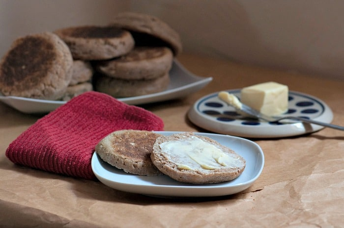 sourdough English muffin served