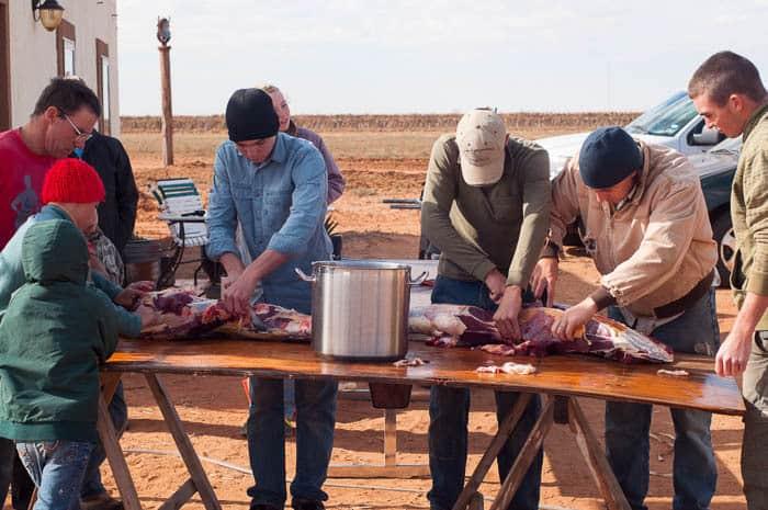 Butchering a Cow