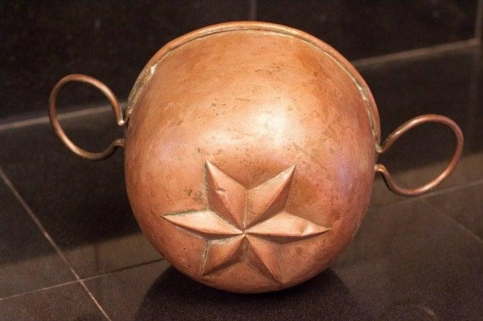 antique copper jello mold
