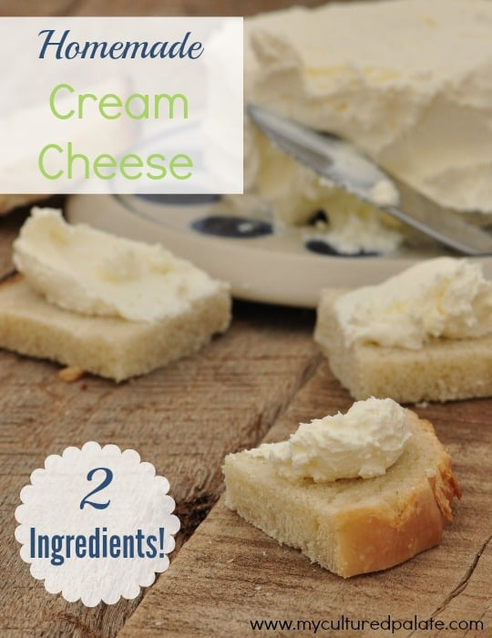 Homemade Cream Cheese 2 ingredients