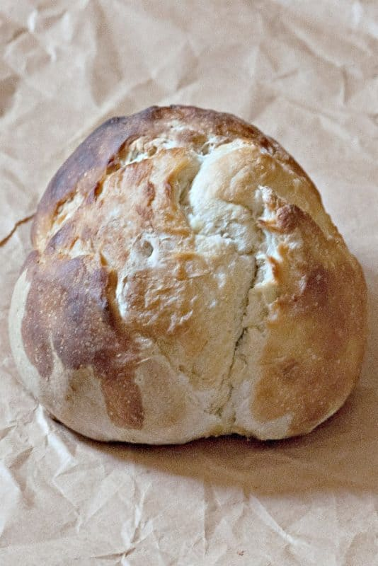 sourdough bread artisan made shown on brown paper