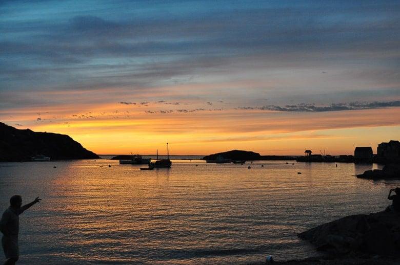 Mohegan Island sunset