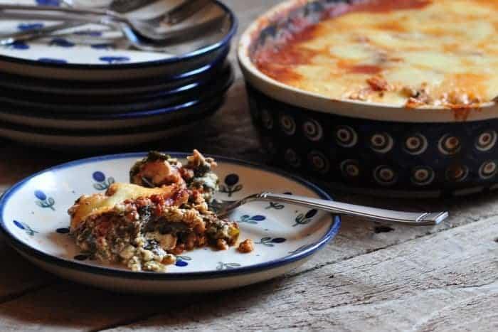 easy eggplant lasagna served
