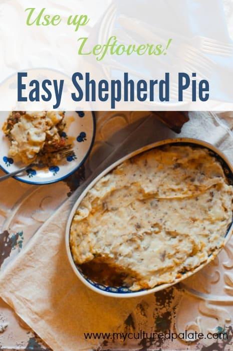 use up leftovers - easy shepherd's pie recipe