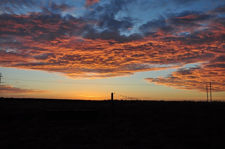 West Texas sunrise Aug. 2014