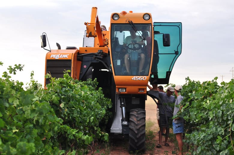 Pellenc 4560 grape harvester