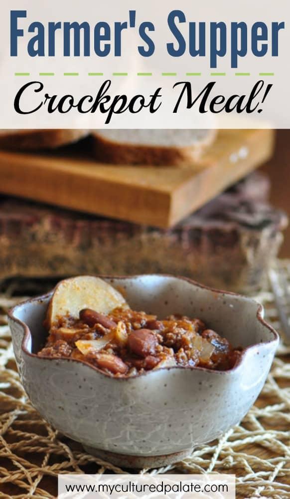 Farmer's Supper - A Crockpot Meal