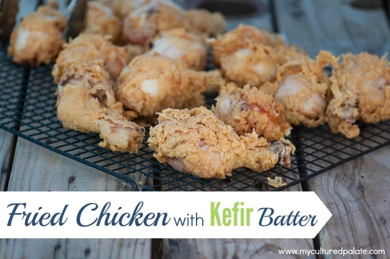 fried chicken with kefir batter