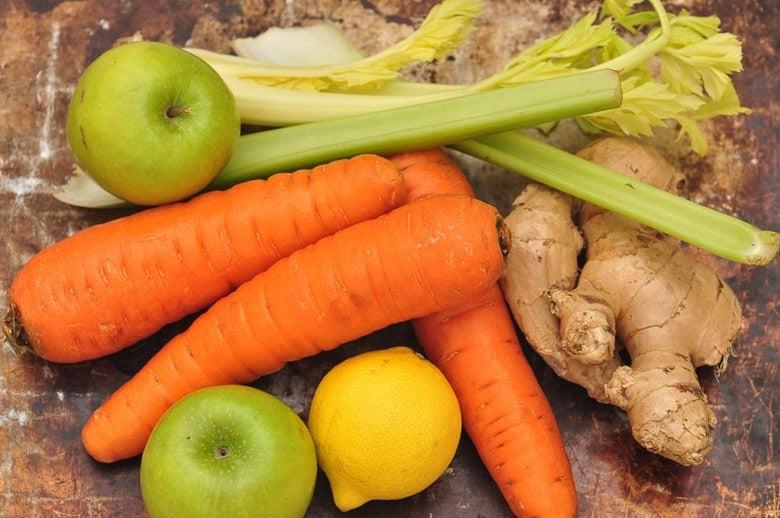 raw carrot juice ingredients