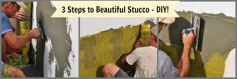3 steps to stucco collage