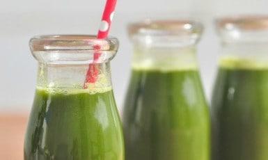fresh green juice drink