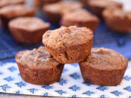 Gluten Free Strawberry Muffins (Paleo, Dairy Free)