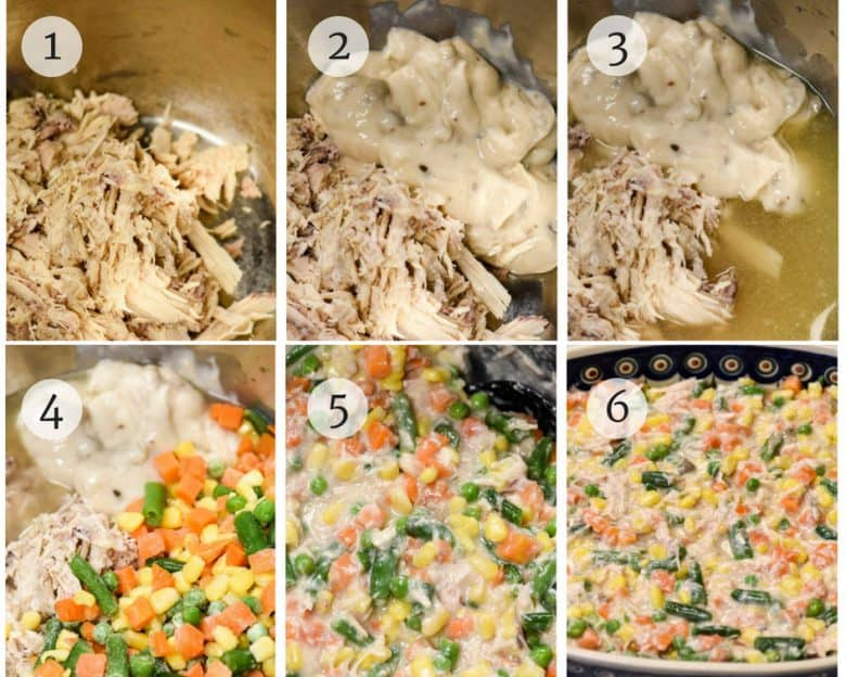 Steps to Making Homemade Chicken Pot Pie shown