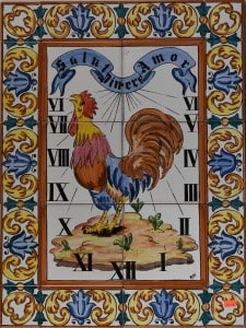161-2 Rooster Sun Dial