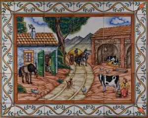 Ceramic Tile Murals 681 Barnyard