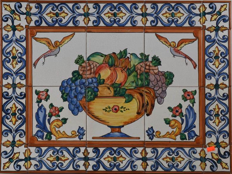 Ceramic Tile Mural from Spain 727 Fruit Bowl