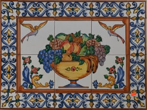 Ceramic Tile Mural from Spain 727 Fruit Bowl