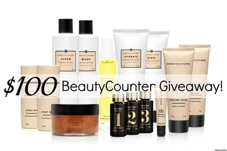 BeautyCounter $100 giveaway