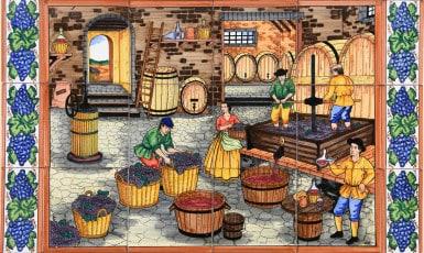 Ceramic Tile Murals - 659-2 inside a winery