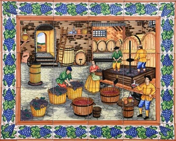 Ceramic Tile Mural – 659-2-inside-a-winery