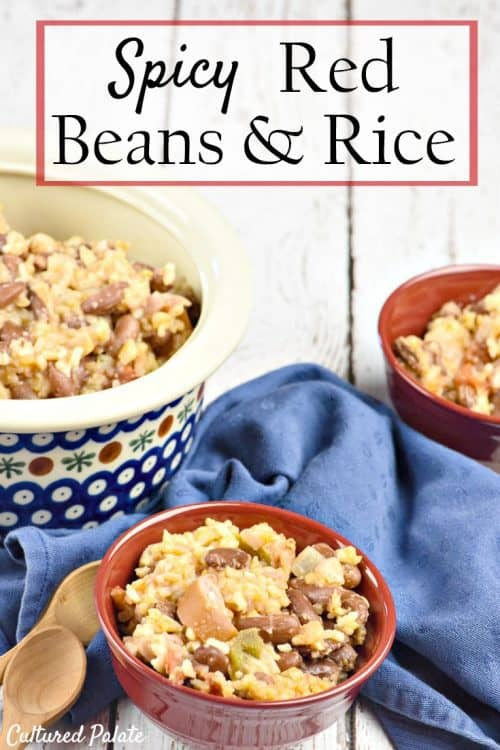 Spicy Red Beans and Rice Recipe shown on table served