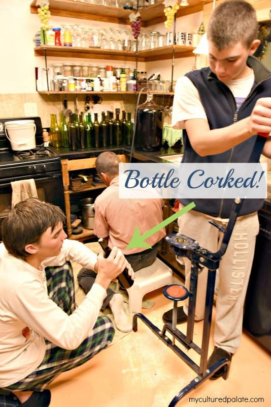 Bottling Montepulciano Wine - Bottle Corked