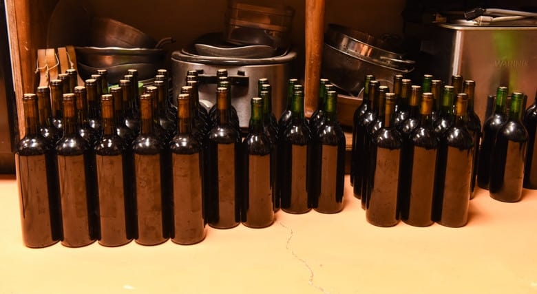 Bottling Montepulciano Wine - Organizing the Bottles
